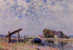 alfred sisley the loing canal at saint posters