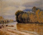 alfred sisley the loing canal painting