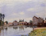 alfred sisley the loing flowing under the moret bridge posters