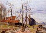 alfred sisley the mills of moret sunrise posters