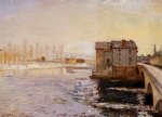 alfred sisley the moret bridge and mills under snow posters