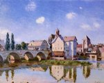 alfred sisley the moret bridge in the sunlight posters