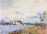 alfred sisley the mouth of the loing at saint posters