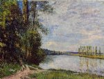 alfred sisley the path from veneux to thomery along the water evening posters