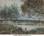 alfred sisley the path to the old ferry at by posters
