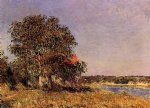 alfred sisley the plain of thomery and the village of champagne posters