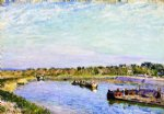 alfred sisley the port of saint mammes morning posters