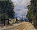 alfred sisley the road from gennevilliers posters