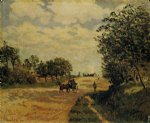 alfred sisley the road from mantes to choisy posters