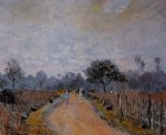 alfred sisley the road from prunay to bougival painting