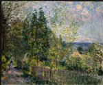 alfred sisley the road in the woods painting