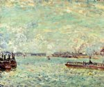 alfred sisley the seine at point du jour posters