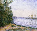 alfred sisley the seine near by posters