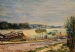 alfred sisley the seine near saint posters