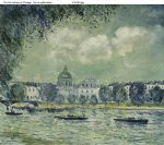 alfred sisley the seine with the institute of france posters