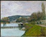 alfred sisley the slopes of bougival posters