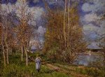 alfred sisley the small meadow in spring posters