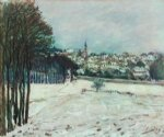 alfred sisley the snow at marly art