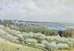 alfred sisley the terrace at saint art