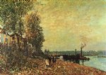alfred sisley the tugboat art