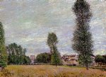 alfred sisley the village of moret seen from the fields art