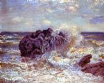 the wave lady s cove langland bay by alfred sisley posters