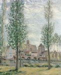 alfred sisley view of moret painting