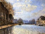 alfred sisley view of the canal st. martin painting