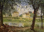 alfred sisley village on the banks of the seine posters