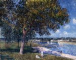 alfred sisley walnut tree in a thomery field posters