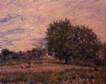 alfred sisley walnut trees sunset posters