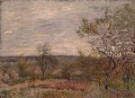 alfred sisley windy day at veneux painting