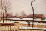 alfred sisley winter landscape moret painting