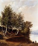alfred thompson bricher figures in a landscape painting 78815