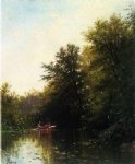 on the mill stream by alfred thompson bricher painting