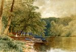 rowboats for hire by alfred thompson bricher painting