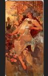 autumn by alphonse maria mucha painting
