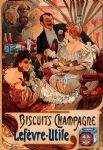 biscuits champagne lefevre utile by alphonse maria mucha painting
