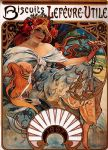 biscuits lefevre utile by alphonse maria mucha painting