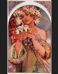 flower paintings - flower by alphonse maria mucha
