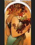 fruit by alphonse maria mucha painting