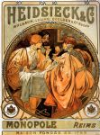heidsieck and co by alphonse maria mucha painting