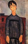 amedeo modigliani little girl in black apron painting
