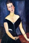 madame georges van muyden by amedeo modigliani painting