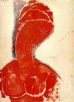 nude bust by amedeo modigliani painting