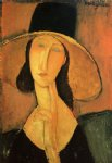 amedeo modigliani portrait of a woman with hat painting 36938