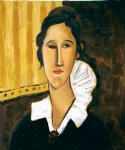 portrait paintings - portrait of anna zborovska ii by amedeo modigliani