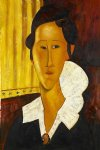 portrait paintings - portrait of anna zborovska by amedeo modigliani