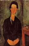 portrait paintings - portrait of chaim soutine by amedeo modigliani