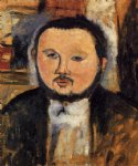 portrait paintings - portrait of diego rivera iii by amedeo modigliani